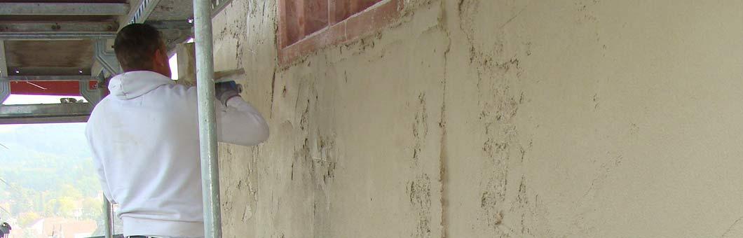 Verputzen von Wänden und Decken vom Malerbetrieb - Gugenbergers